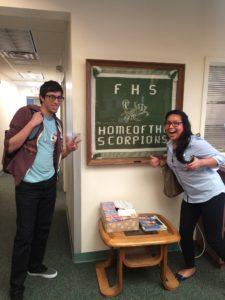 Felipe and Jazmin doing outreach for DreamsOnWheels in Farmington, NM