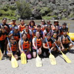 NMDT members at our annual UndocuHealing Retreat in Taos, NM ready to go river rafting
