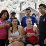 Miriam, Hector, Estefany, Melissa, Oscar, and Jesus after river rafting